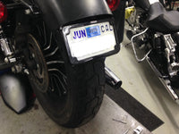 Curved License Plate Relocation for Sportsters
