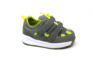 MT. Emey MTW16V Green - Kids Extra Depth  Athletic Walking Shoes Hook and Loop