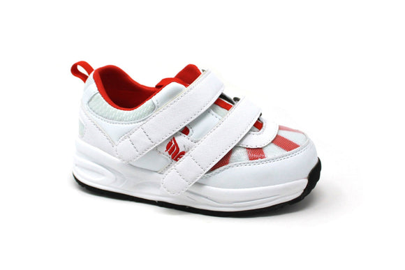 MT. Emey MTN16V Red - Kids Extra Depth  Athletic Walking Shoes Hook and Loop