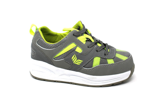 MT. Emey MTW16 Green - Kids Extra Depth  Athletic Walking Shoes with Laces
