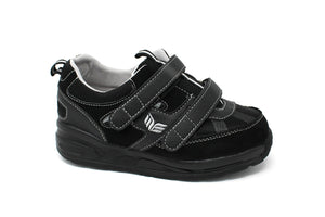 MT. Emey MTS16V Black - Kids Extra Depth  Athletic Walking Shoes Hook and Loop