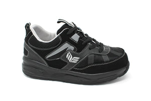 MT. Emey MTS16 Black - Kids Extra Depth  Athletic Walking Shoes with Laces