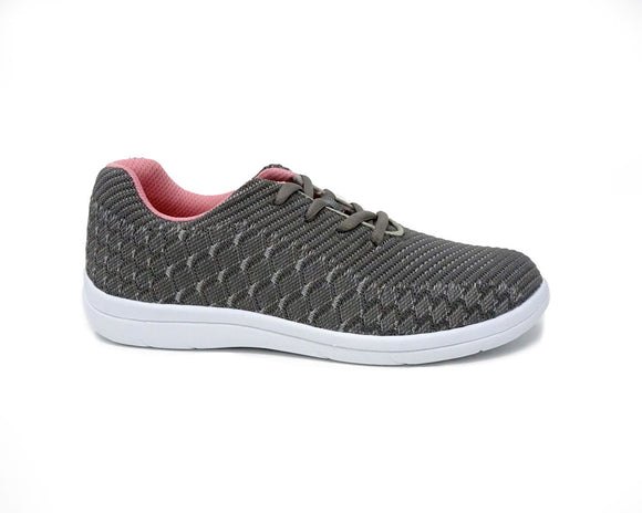 7f92dd74c69e Mt. Emey 9327 Gray - Lady s Added-Depth Extreme-Light Knitted Walking Shoes