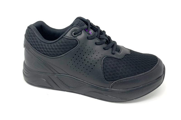 FITec 9720 Black - Men's Added-Depth Light Mesh Lace Walking Shoe