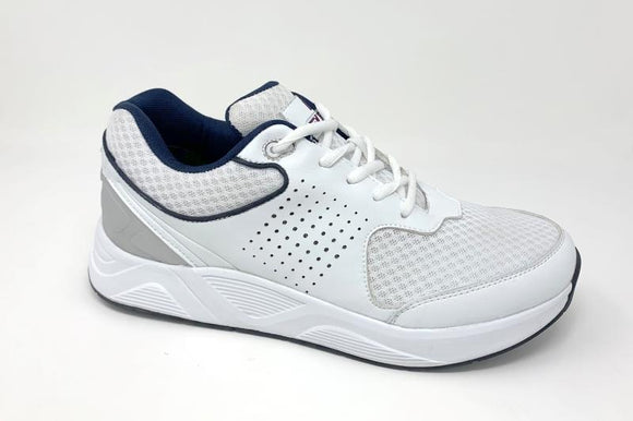 FITec 9720 White - Men's Added-Depth Light Mesh Lace Walking Shoe