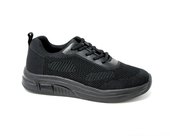 FITec 9328 Black - Lady's Added-Depth Extreme-Light Knitted Walking Shoe
