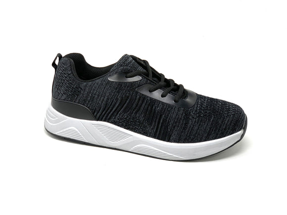 FITec 9709 Grey - Men's Knitted Walking Comfort Shoe