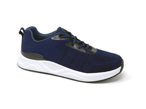FITec 9711 Navy Blue - Men's Knitted Walking Comfort Shoe