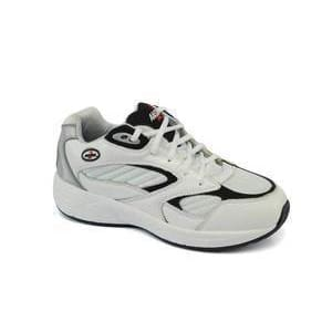 Answer2 554-3 White/Navy - Men's Athletic Walking Shoes with Laces –  TheWideShoes.com