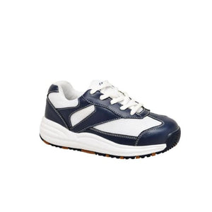 Mt. Emey 2155 White/navy - Children Oil/slip Resistant Shoes With Laces - Shoes
