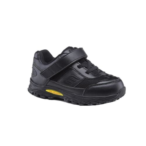 Mt. Emey 3301-1L Black - Children Straight Last Athletic Shoes With Elastic Laces - Shoes