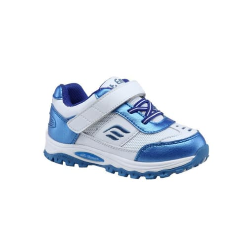 Mt. Emey 3301-6L White/navy Blue - Children Straight Last Athletic Shoes With Elastic Laces - Shoes