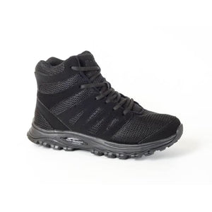 Mt. Emey 9315 Black - Womens Mesh Walking 5 Boots Black Lace - Shoes