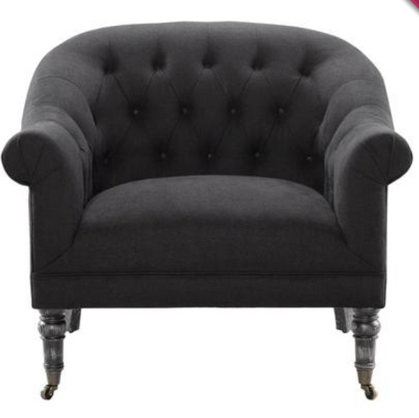 Reims Black Arm Chair