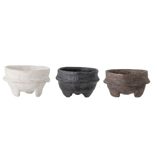 Paper Mache Footed Bowls