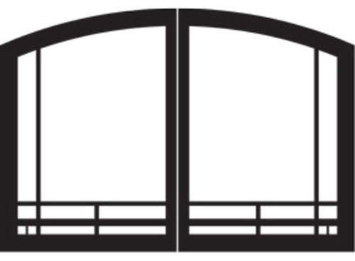 "Empire Comfort Systems Mission Arch Door Set for Tahoe 32"" Fireplaces - Matte Black"