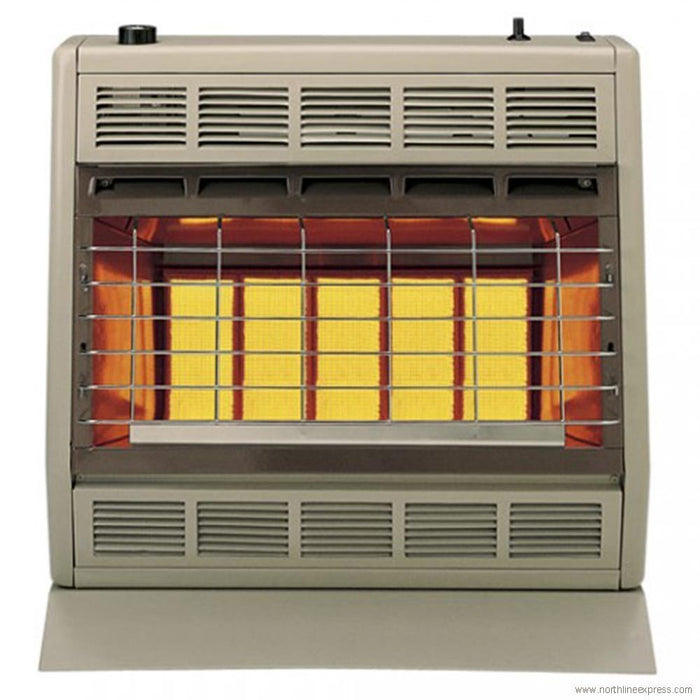 Empire Infrared Vent Free Heater Liquid Propane 30000 BTU, Thermostatic Control