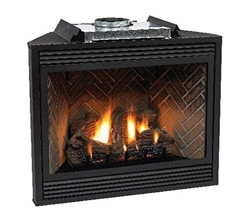 "Empire Tahoe Premium 36"" Direct-Vent LP Millivolt Control Fireplace with Blower"