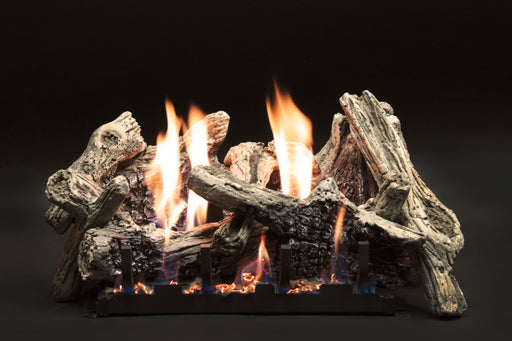 "Empire Comfort Systems 18"" Driftwood Burncrete Logset with Manual VF/V Slope Glaze Burner, LP"