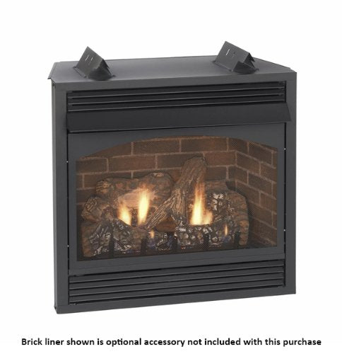 "Empire Vail 36"" Millivolt Vent-Free Premium Fireplace with Blower - Natural Gas"