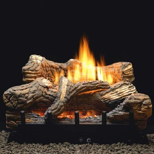 "White Mountain Hearth Manual 5-piece 24"" Ceramic Fiber Log Set - Natural Gas"