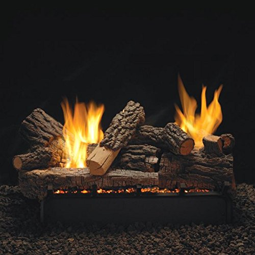 "Empire Comfort Systems 24"" Rock Creek Logset with Millivolt VF/V Slope Glaze Vista Burner, NG"