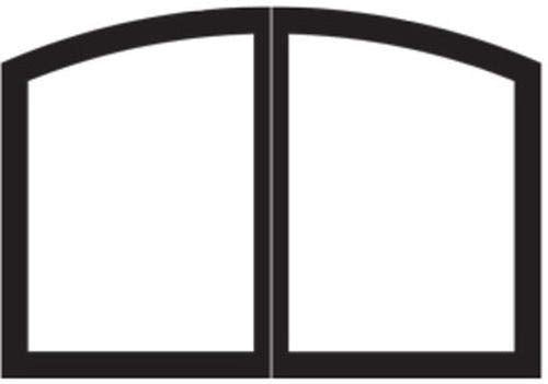 "Empire Comfort Systems Arch Door Set for Tahoe 32"" Fireplaces - Matte Black"