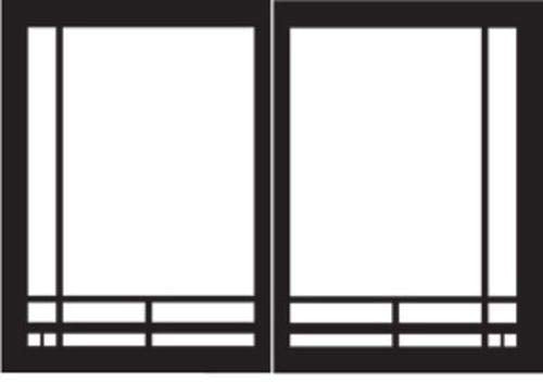 Empire Comfort Systems Mission Rectangle Door Set for Deluxe Fireplaces - Matte Black