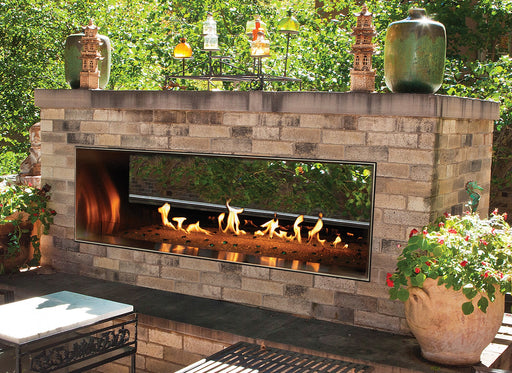 "Empire Comfort Systems Carol Rose Outdoor SS See-Through 60"" Linear Fireplace - NG"
