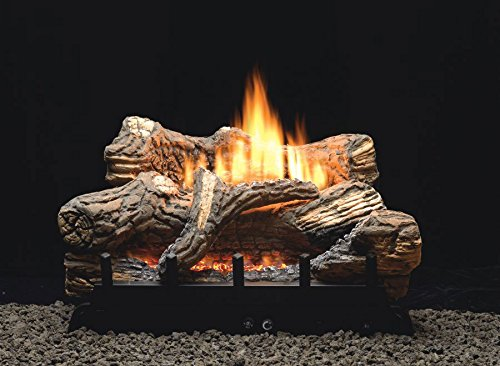 Empire Comfort Systems Flint Hill Thermostat 5-piece 18 inch Ceramic Fiber Log Set - Liquid Propane