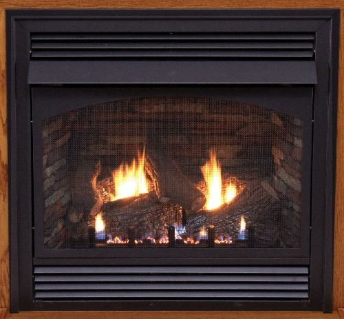 Empire Vent-Free Premium Fireplace 36-inch, Millivolt, Remote Ready, Blower, 36,000 Btu, NG, with logs and liner