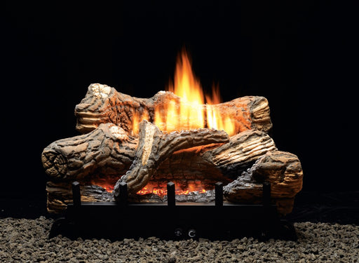 "Empire Comfort Systems Flint Hill Manual 6-piece 30"" Ceramic Fiber Log Set - Liquid Propane"