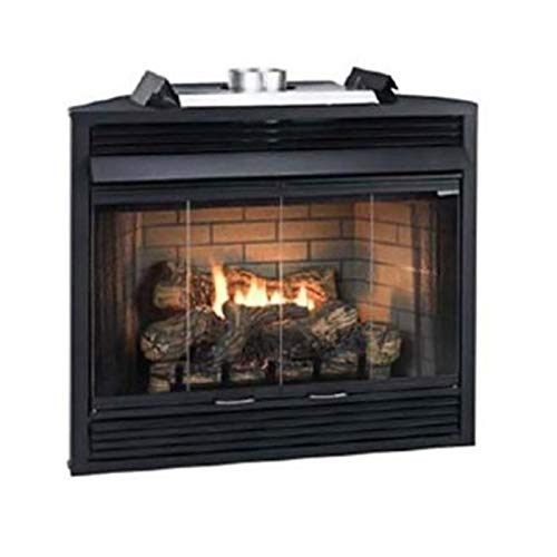 "Empire Comfort Systems Deluxe IP 34"" Louver B-Vent Fireplace - Natural Gas"