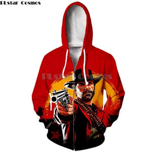 NEW Red Dead: Redemption 2 ZIP HOODY
