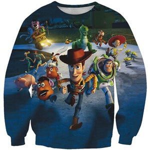 NEW LIMITED EDITIONS 2019 Toy Story 4 Long Sleeve Sweatshirts Woody's Gang