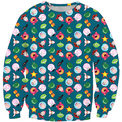 NEW LIMITED EDITIONS 2019 Toy Story 4 Long Sleeve Sweatshirts Button Fun