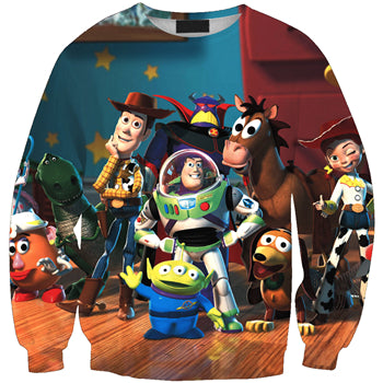NEW LIMITED EDITIONS 2019 Toy Story 4 Long Sleeve Sweatshirts Toy Room