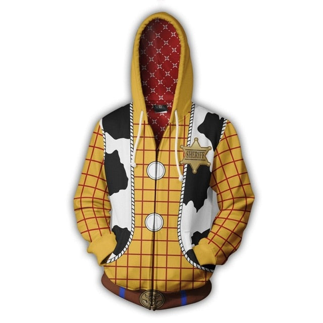 LIMITED EDITION TOY STORY 4 WOODY ZIPPED HOODY