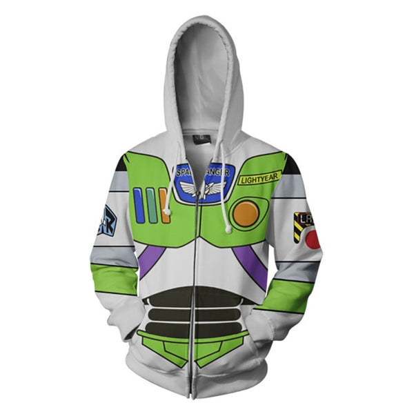 LIMITED EDITION TOY STORY 4 BUZZ LIGHT YEAR ZIPPED HOODY