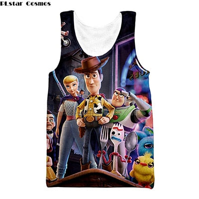 2019 NEW 3D Toy Story 4 Tank Top