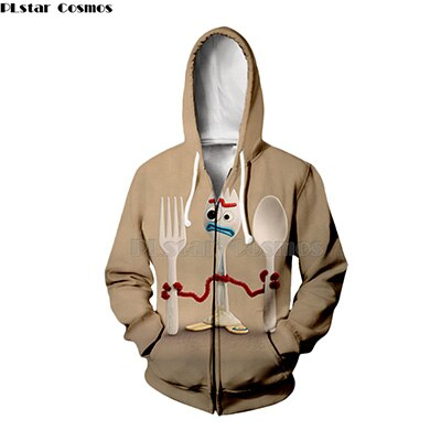 NEW 2019 Toy Story 4 The Walking Toys Zipped Hoody