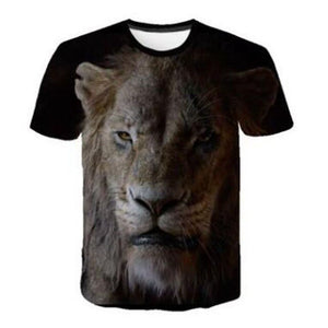 NEW The Lion King short Sleeve Kids Summer Shirt Simba and Jafar