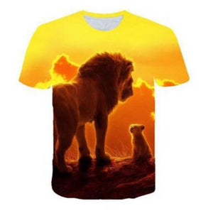 NEW The Lion King short Sleeve Kids Summer Shirt Simba and Mufasa