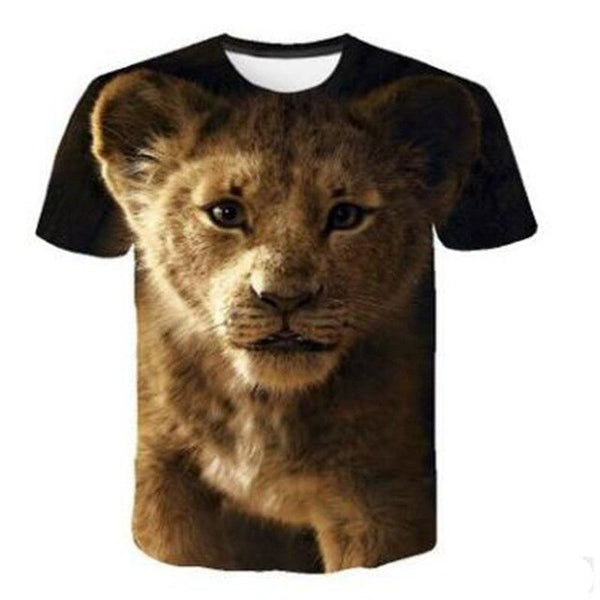 NEW The Lion King short Sleeve Kids Summer Shirt SImba