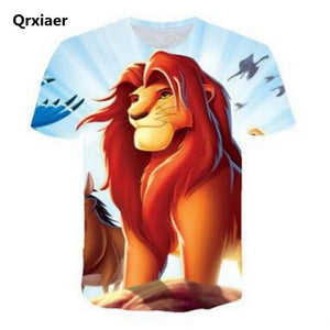 NEW The Lion King short Sleeve Kids Summer Shirt SImba Cartoon