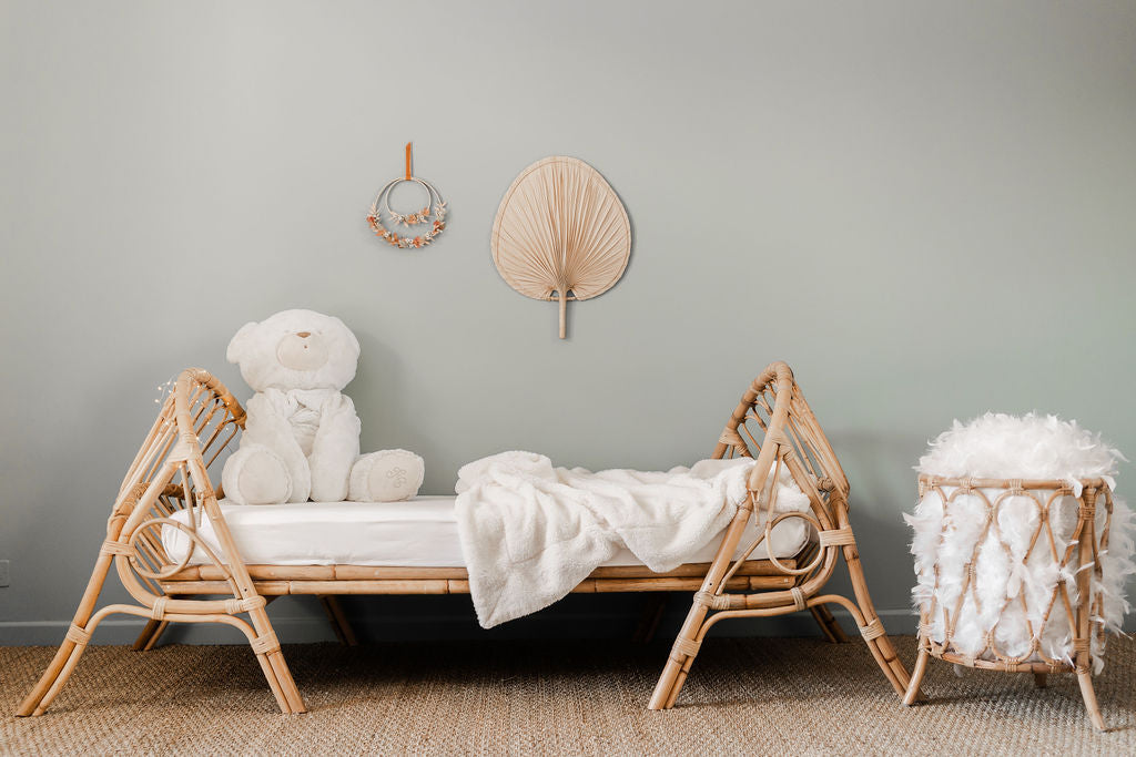 Lit enfant en rotin naturel JUNE