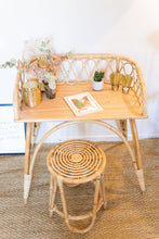 Bureau enfant ou console en rotin Naturel JUNE