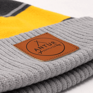 Antur Supply Co Beanie - Marigold/ Grey