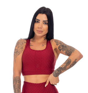 Sports Bra Action Scala Bordo