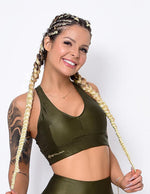 Sports Bra Fit Rise Military Green